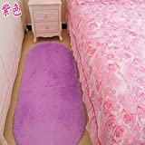 SU@DA Creative Carpet Living room Bedroom Mats Door Bathroom Anti - skid , purple , 40*60cm