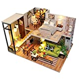 Rylai 3D Puzzles Wooden Handmade Miniature Dollhouse DIY Kit Light Romance Europe Series Dollhouses Accessories Dolls Houses with Furniture LED Music Box