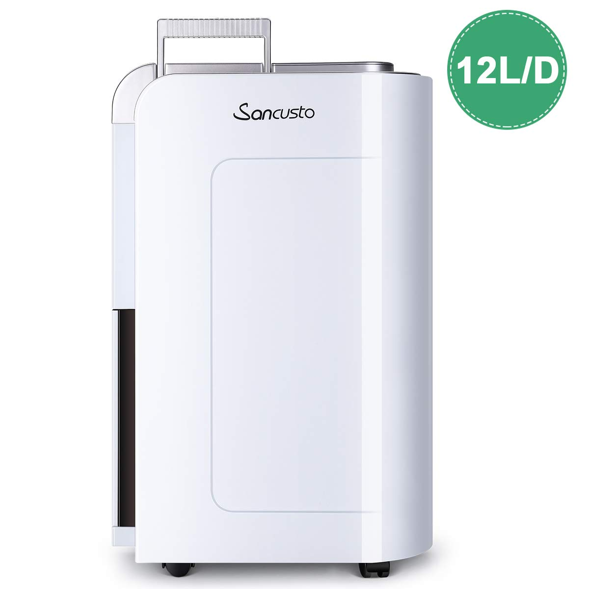 Sancusto® - 12L/Día Deshumidificador Digital, Secador Purificador de Aire, 12L/