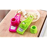 Candy Color Garlic Press Multi-functional Grinding Garlic Mini Ginger Grinding Grater Planer Slicer Cutter
