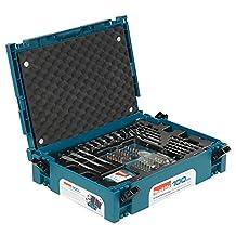 Makita B-45303 100 Piece Accessory Kit with Small Interlocking Tool case