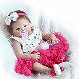 Galaxydoll Reborn Baby Doll Vinyl Full Silicone Body 23 inch 57cm Babies Doll Lifelike Little Girl Doll Women Nursing Treats Shooting Props