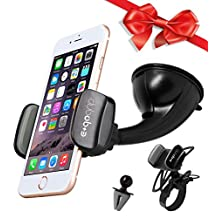 Smart Phone Holder for Car, Bicycle, Exercise Bike, Treadmill, Stroller, Pet Stroller, Shopping Cart Mount for iPhone, Samsung, Android, 10 Mounting Options + BONUS Cleaning Cloth