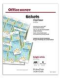 Office Depot(R) Laser/Inkjet Tickets, Pack Of 440