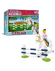 CRAZE BIBI & TINA 14165 toernooiset met ruitster paard Bibi en Sabrina incl. paardenaccessoires speelfiguren om te verzamelen
