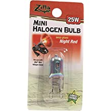Zilla R-SRZ15632 Mini Halogen Lamp Reptile Bulb, 25-Watt, Night Red