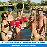 GoPong GoBig 110 Oz Giant Red Party Cups 24 PACK