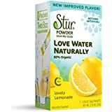 Stur – Powder Drink Mix - Lovely Lemonade (42 sticks, 84 servings) – Made with All Natural Flavors, Organic Stevia and Organic Sugar, Contains High Antioxidant Vitamin C