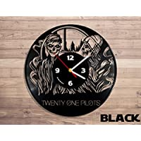 Twenty One Pilots Vinyl Clock Music Decor Vinyl Record Wall Clock Wall Clock Music Bands and Musicians Themed Travel Souvenir
