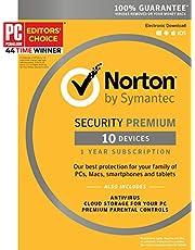 Norton Security Premium - 10 Device [Key Card] - 2019 Ready