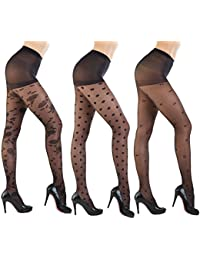 Women's Patterned Footed Tights Pantyhose 3pair or 2pair
