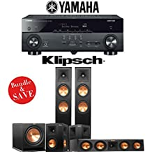 Klipsch RP-260F 5.1-Ch Reference Premiere Home Theater System with Yamaha AVENTAGE RX-A670BL 7.2-Ch 4K Network AV Receiver