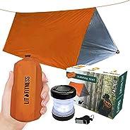 LIT FITNESS Survival Tent Emergency Shelter with Titan Paracord, 2 Person Survival Kit Mylar Tent Includes Sur