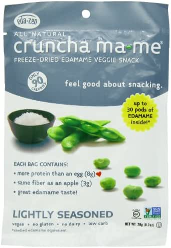 Crunch-a-Mame Edamame Snack - High In Protein & Fiber, Naturally Gluten Free - Lightly Seasoned - (Pack of 8 Single Serving Bags)