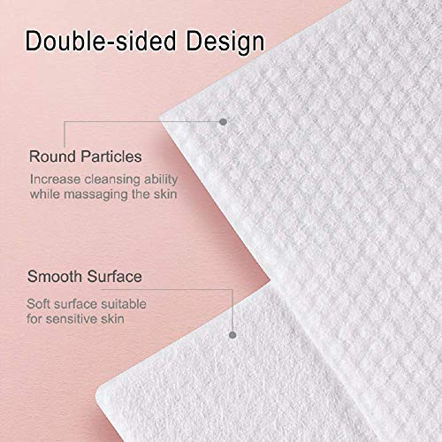 Soft and Thick Dry Wipes, Disposable Cotton Facial Tissues for Sensitive Skin and Used as Baby Washcloths, Makeup Removing Wipes