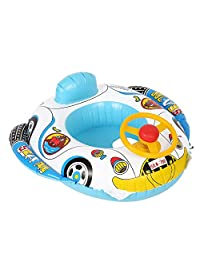 Wincal Baby Swimmer Circle Children Float Boat Water Toys PVC Inflatable Infant Swimming Seat Ring