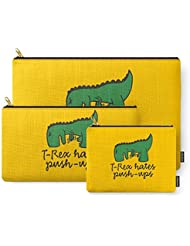 Society6 T-Rex Hates Push-ups Carry-All Pouch
