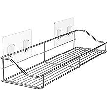 Orimade Bathroom Shelf Organizer Storage Kitchen Rack with Traceless Transparent Adhesive No Drilling SUS304 Stainless Steel