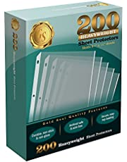 """200/Box Clear Heavyweight Poly Sheet Protectors by Gold Seal, 8.5"""" x 11"""""""