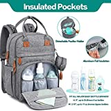 Diaper Bag Backpack, BabbleRoo Baby Nappy Changing