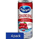 Ocean Spray Sparkling Juice, Cranberry, 8.4 Ounce Can (Pack of 24)