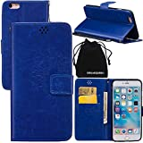 iPhone 6s Case, iPhone 6 Case, DRUnKQUEEn Wallet Case with Cellphone Holder - PU Leather Cover Purse Slim Fit Card Slot for Apple iPhone6s / iPhone6