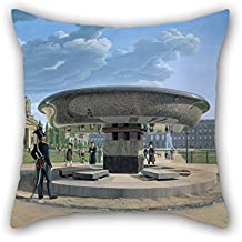 The Oil Painting Erdmann Hummel - Die Granitschale Im Berliner Lustgarten Pillowcase Of 20 X 20 Inches / 50 By 50 Cm Decoration Gift For Boys Dance Room Him Indoor Husband Deck Chair (two Sides)