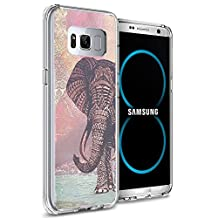 Samsung S8 Case Samsung Galaxy S8 Viwell TPU Soft Case Rubber Silicone The Aztec color elephants