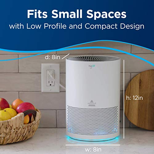 BISSELL MYair Purifier with High Efficiency and Carbon Filter for Small Room and Home, Quiet Bedroom Air Cleaner for Allergies, Pets, Dust, Dander, Pollen, Smoke, Hair, Odors, Timer, 2780A