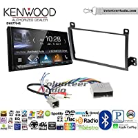 Volunteer Audio Kenwood DMX7704S Double Din Radio Install Kit with Apple CarPlay Android Auto Bluetooth Fits 2003-2011 Town Car