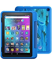 """Introducing Fire HD 8 Kids Pro tablet, 8"""" HD, ages 6–12, with 2-year warranty, thousands of apps, games, books and more included for 1 year, and kid-friendly case – Intergalactic"""