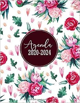 Agenda 2020-2024: Planificador, Organizador, Diario | Agenda semanal 60 meses | Organiza tu día | Agendas Semana Vista, Calendario Enero 2020 a Diciembre 2024