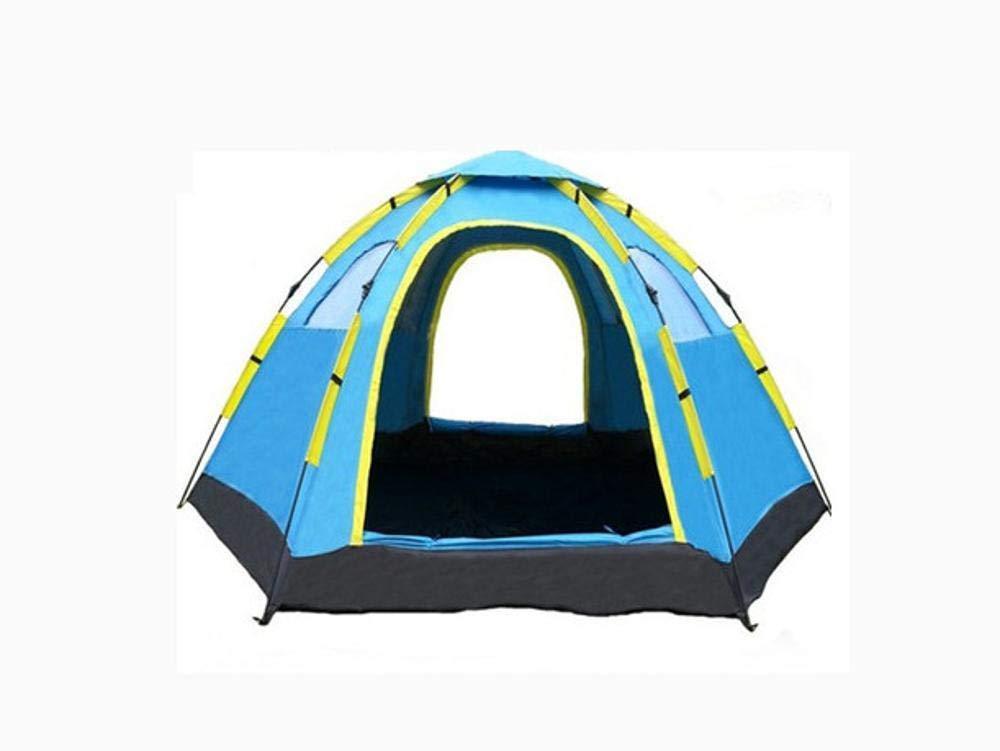 Lxj Outdoor-Zelt im Freien automatische Einzelne Tür 6-8 Personen kostenlose Einrichtung sechs-Punkte-Zelt Reisen Camping Zelt 305  240  h145cm
