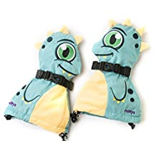 Veyo Kids - Drago Mittyz - Waterproof Kids Mittens | Toddler Gloves | Easy on, Stay on, | Perfect for Snow Skiing, Sledding, and Winter Play