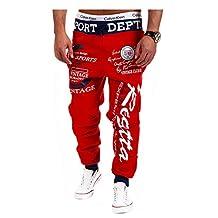 Jueshanzj Mens Pants Letter Printed Hip Hop Sweat Pants