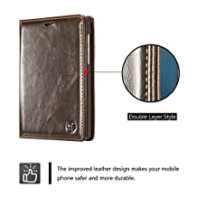 Blackberry Passport 2 Case,Luxury Wallet Magnetic Ultra Flip Folio Cover Leather Case with Card Slots [Kickstand Function] for Blackberry Passport 2-Brown