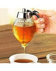 SunshineFace Home Syrup Dispenser Honey Pot Vintage Container Honey Dispenser Distribution Tank