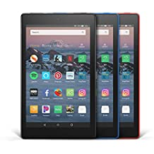 All-New Fire HD 8 3-Pack, 16GB - Includes Special Offers (Black/Marine Blue/Punch Red)