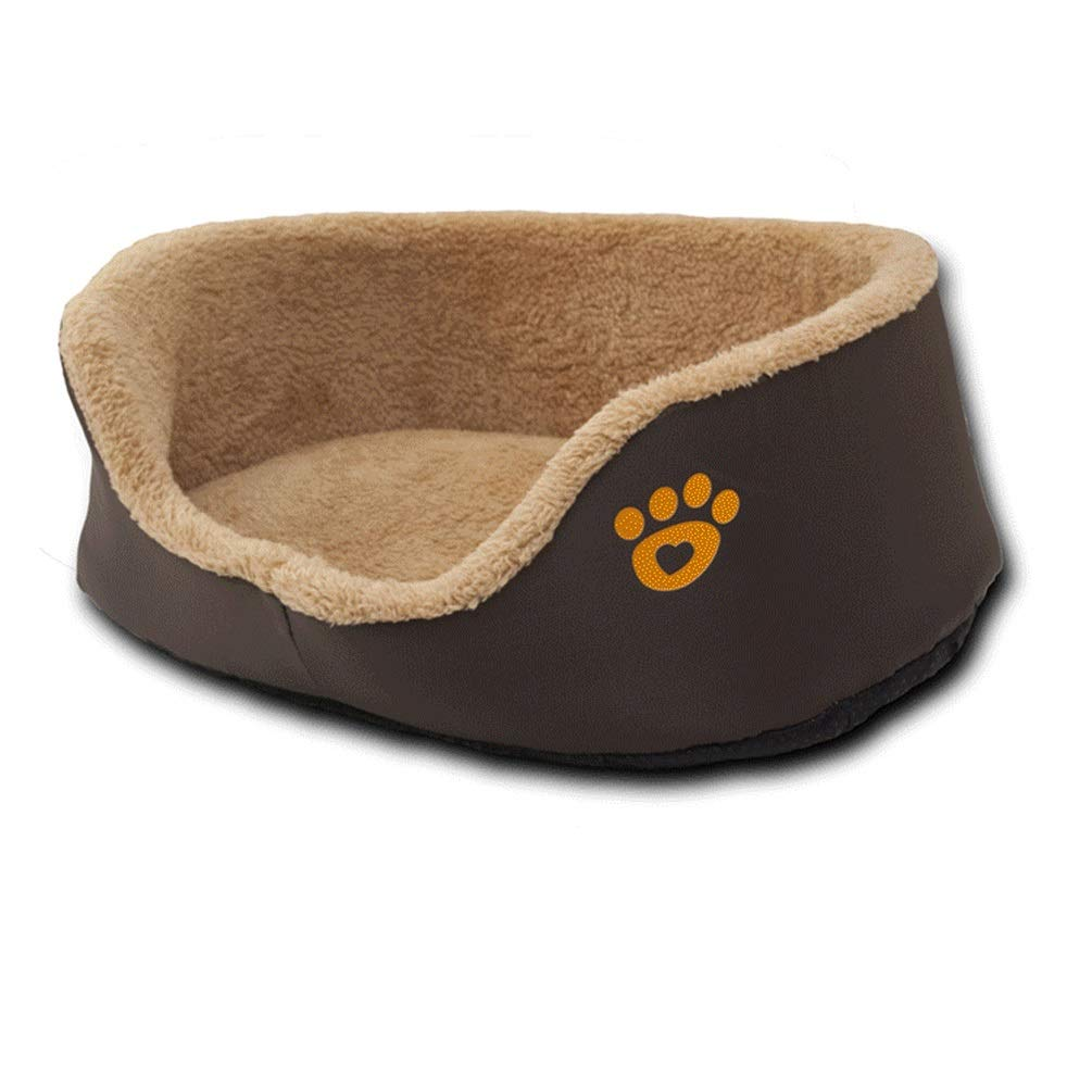 M QYQ Pet Bed Round Sponge Pad Bed Blankets Dog Kennel Mats Cushion Pet Pads Washable Comfortable And Warm Wear Resistant Bite Anti-wrinkle Use for Indoor Pets to Rest Sleep (Size   M)