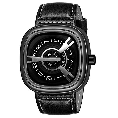 Acnos Formal Analogue Men's Watch (Black Dial Black Colored Strap)