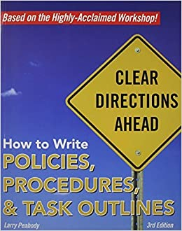 how to write policies procedures task outlines
