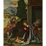 Canvas Prints Of Oil Painting ' Lodovico Mazzolino The Nativity ' , 24 x 28 inch / 61 x 72 cm , High Quality Polyster Canvas Is For Gifts And Basement, Game Room And Living Room Decoration, wall print