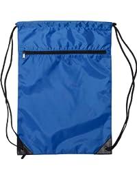 8888 - Denier Nylon Zippered Drawstring Backpack