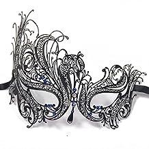 OFKP® Diamante Rhinestone Luxury Venetian Style Metal Filigree Masquerade Mask Prom Ball