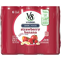 24-Pack V8 V-Fusion Strawberry Banana 100% Juice 8 oz. Cans