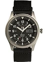 SEIKO 5 SPORTS Automatic made in Japan Black Dial Nylon Strap Watch SNZG15J1 Mens