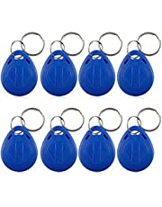 New RFID Proximity ID Card Key for Access Control (Blue), Rewritable Key Keyfobs Keychains for Door Access Control, Pack of 100 (IC Card)
