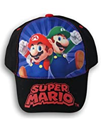Super Mario Brothers Black Baseball Cap Hat