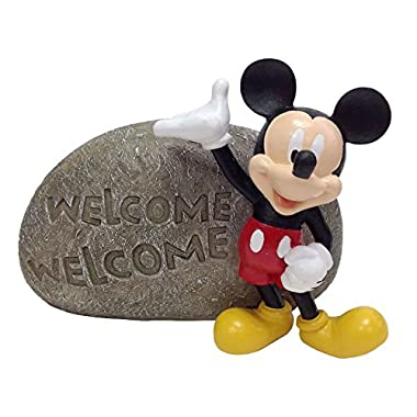 Design International Group Mickey Welcome Stone, 8 X 8 Inches