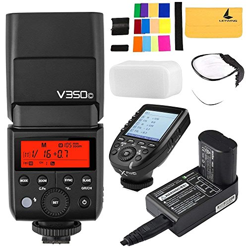 Godox V350C TTL GN36 1/8000s HSS 2.4G Wireless X System Li-on Battery Camera Flash Speedlite + GODOX Xpro-C E-TTL 2.4G Wireless High-Speed Flash Trigger for Canon Eos Cameras